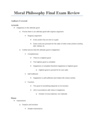 PHIL 230 Study Guide - Final Guide: Fallacy, Consequentialism, Deontological Ethics