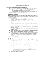 HREQ 2010 Study Guide - Midterm Guide: Christian Privilege, Imine, Canada Act 1982
