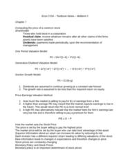 Economics 2154A/B Lecture Notes - Lecture 10: Efficient-Market Hypothesis, Dividend Discount Model, Adaptive Expectations