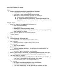 SOCY 100 Lecture Notes - Lecture 30: Essentialism, Friend Zone