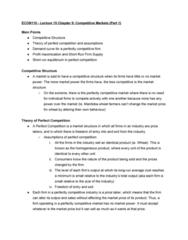 ECON 110 Lecture Notes - Lecture 15: Profit Maximization, Variable Cost, Market Power