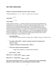 ECON 2305 Study Guide - Midterm Guide: Exchange Rate, Foreign Direct Investment, Capital Outflow