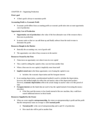 Economics 1021A/B Lecture Notes - Lecture 1: Historical Cost, Opportunity Cost, Product Differentiation