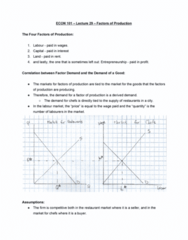 ECON 101 Lecture Notes - Lecture 29: Production Function, Perfect Competition, Demand Curve