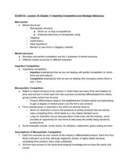 ECON 110 Lecture Notes - Lecture 18: Monopolistic Competition, Nash Equilibrium, Market Structure