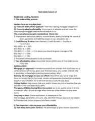 REAL 1820 Lecture Notes - Lecture 13: Transunion, Equifax, Credit History