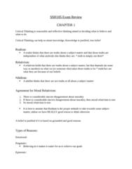 SSH 105 Study Guide - Final Guide: Moral Relativism, Relativism, Ais People