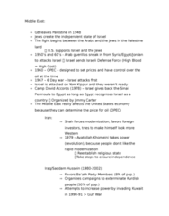 HIST 0865 Lecture Notes - Lecture 7: Camp David Accords, Israel Defense Forces, Six-Day War