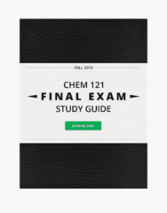CHEM 121 Study Guide - Final Guide: White Coat, Lewis Structure, Partitive