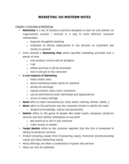 MKT 100 Study Guide - Midterm Guide: Greenwashing, Personal Knowledge Base, General Electric Genx