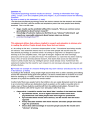 PSYC 3800 Study Guide - Final Guide: Summative Assessment, Visible Minority, Achievement Orientation