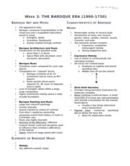 MUS 1301 Lecture Notes - Lecture 3: Johann Pachelbel, Ritornello, Eocene