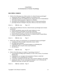 PSYC 2400 Chapter Notes - Chapter 1: Forensic Psychology, John Bowlby, Free Recall