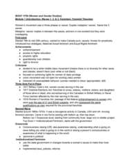 WGST 1F90 Study Guide - Midterm Guide: Wartime Elections Act, Social Feminism, Wgst