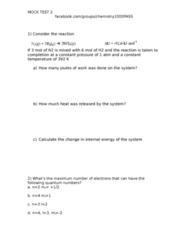 CHEM 1000 Study Guide - Midterm Guide: Electron Configuration, Joule
