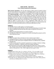 COIS 1010H Lecture 11: COIS Final Test