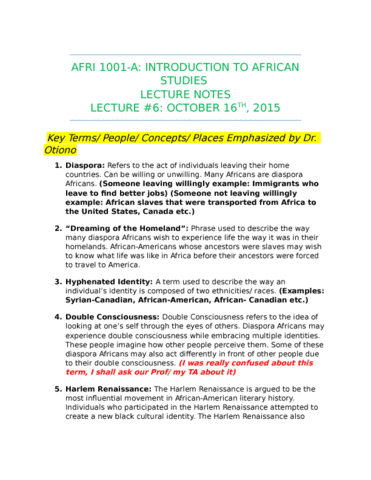 LECTURE NOTES ON AFRICAN STUDIES PDF DOWNLOAD