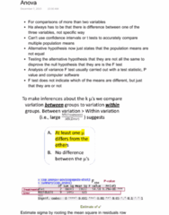 STAT 2230 Lecture Notes - Lecture 11: Analysis Of Variance, Alternative Hypothesis, Multiple Comparisons Problem