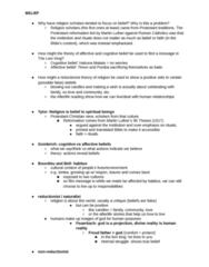 RLG101H5 Study Guide - Final Guide: Reductionism, Simba Rebellion, Ooooo