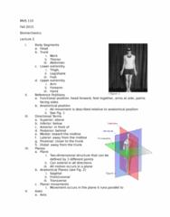 MOVESCI 110 Lecture 22: Biomechanics 2