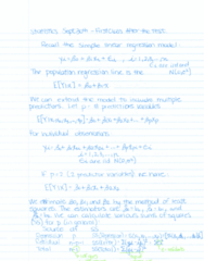 STAT 2050 Lecture Notes - Lecture 5: Simple Linear Regression, Independent And Identically Distributed Random Variables