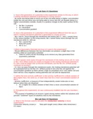 BIOL273L Quiz: Bio 273L Quiz Questions Lab #1-5