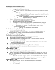 KINESIOL 1A03 Lecture Notes - Lecture 31: Clavicle, Rigor Mortis, Erector Spinae Muscles