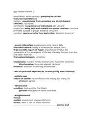 GLGY 307 Study Guide - Midterm Guide: Algae, Paleoarchean, Polynucleotide