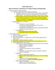 BI301 Lecture Notes - Lecture 11: Ring Species, Paleozoic, Lake Kivu