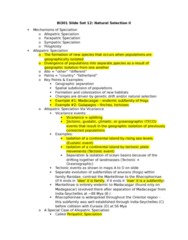 BI301 Lecture Notes - Lecture 12: Ecotype, Mutation, Sharp-Beaked Ground Finch