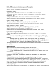 LING 1P92 Lecture Notes - Lecture 4: Front Vowel, Formant, Voice-Onset Time