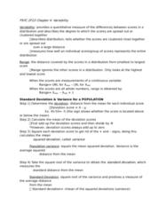 PSYC 2F23 Chapter Notes - Chapter 4-7: Sampling Error, Statistic, Sampling Distribution