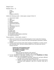 RLGA01H3 Study Guide - Final Guide: Guru Granth Sahib, Talal Asad, Cargo Cult