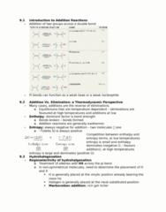 CHEM 2OA3 Chapter Notes - Chapter 9: Enthalpy, Alkene, Nucleophile