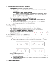 CHEM 2OA3 Chapter Notes - Chapter 7: Leaving Group, Nucleophile, Thiol