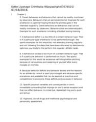 PSYC 2660 Study Guide - Midterm Guide: Sport Psychology, Hypnosis, Behaviorism