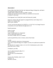 PROG 10082 Lecture Notes - Lecture 3: Fahrenheit