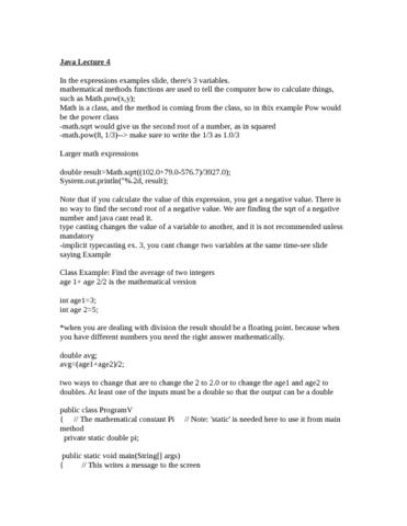 prog-10082-lecture-4-java-lecture-4