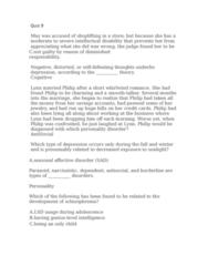 PSYC 1F90 Study Guide - Quiz Guide: Intellectual Disability, Shoplifting, Lake Pontchartrain