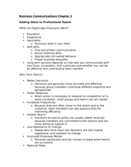 71-100 Chapter Notes - Chapter 2: Active Listening, Soft Skills, Nonverbal Communication