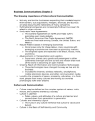 71-100 Chapter Notes - Chapter 3: North American Free Trade Agreement, Nonverbal Communication, Collectivism