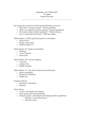 econ101 syllabus spring 2015 Econ 2: principles of macroeconomics  online spring 2015  syllabus  instructor information instructor: rima mabsout email:  final exam, covering ch 13-16 will be available on friday june 5, 2015 due on sunday june 7th homework assignments:  specific to this syllabus and in accordance with the laccd standard of student conduct.