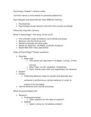PSYC 050 Lecture Notes - Lecture 1: Wilhelm Wundt, Pseudoscience, Unconscious Mind