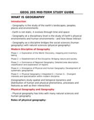GEOG205 Midterm: GEOG 205 Midterm Studyguide
