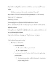 AFRO 005 Lecture Notes - Lecture 5: Crispus Attucks, Phillis Wheatley, Anthony Benezet