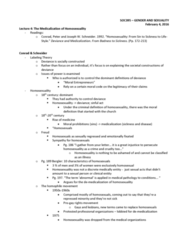 SOC395H1 Lecture Notes - Lecture 4: Labeling Theory, Medicalization, Homophile
