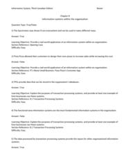 BUSI 3700 Lecture Notes - Lecture 8: Transaction Processing System, Enterprise Application Integration, Transaction Processing