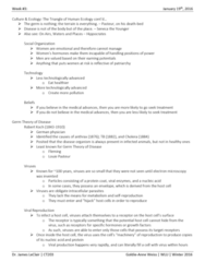 CT203 Lecture Notes - Lecture 4: Common Cold, Cytolysis, Intracellular Parasite