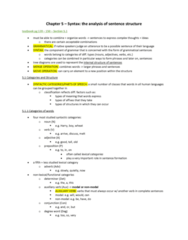 LIN100Y1 Chapter Notes - Chapter 5: Part Of Speech, Complementizer, Subcategorization