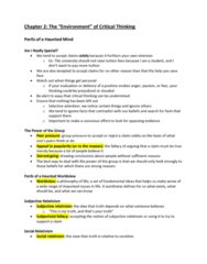 SSH 105 Chapter Notes - Chapter 2: Peer Pressure, Philosophical Skepticism, Stereotype